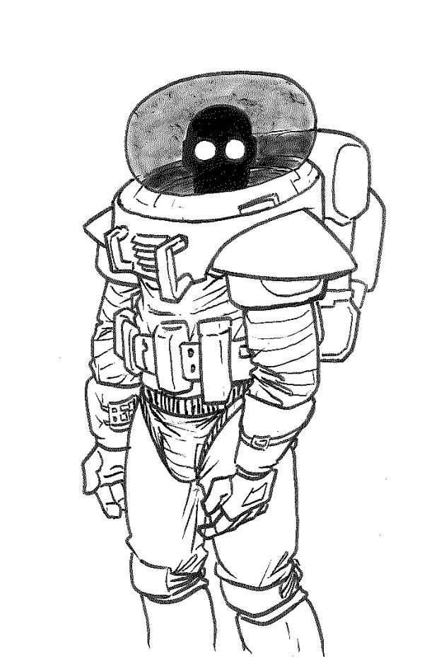 creepy spacesuit man